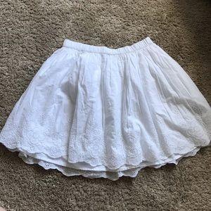 GAP Bottoms - one rose skirt and one white skirt